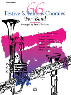 66 Festive and Famous Chorales for Band - E-Flat Baritone Saxophone Buch