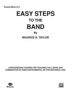 Easy Steps to the Band - Horn in F Buch