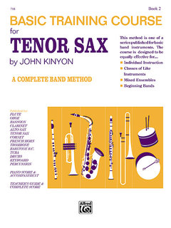 John Kinyons Basic Training Course, Book 2 - Tenor Sax Buch
