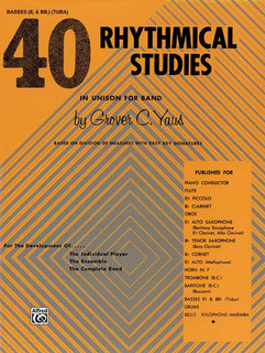 40 Rhythmical Studies - Bass (Tuba) Buch