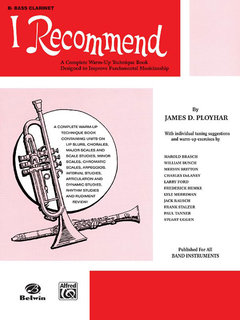 I Recommend - B-Flat Bass Clarinet Buch