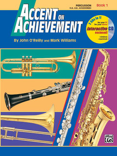 Accent on Achievement, Book 1 - Percussion?Snare Drum, Bass Drum & Accessories Buch und CD