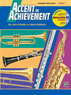 Accent on Achievement, Book 1 - Combined Percussion?S.D., B.D., Access. & Mallet Percussion Buch und CD