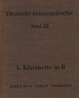 Deutsche Armeemärsche Band 3 - Klarinette in B I
