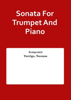 Sonata For Trumpet And Piano