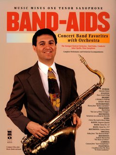 Band aids for tenor saxophone