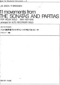 11 Movements from the Sonatas and Partias BWV 1001-1006