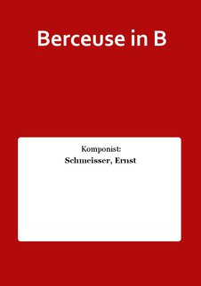 Berceuse in B