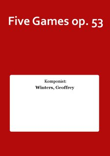 Five Games op. 53