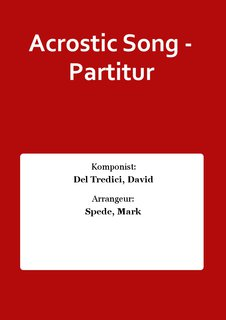 Acrostic Song - Partitur