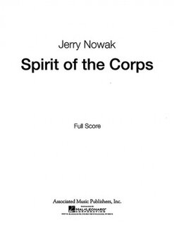 Spirits of the Corps - Partitur