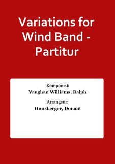 Variations for Wind Band - Partitur