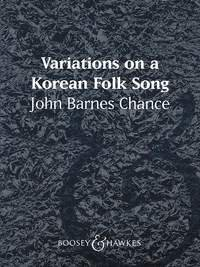 Variations on a Korean Folk Song - Partitur
