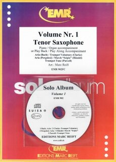 Solo Album Vol. 01 + CD  (Tenor Saxophone)
