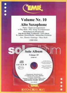 Solo Album Vol. 10 + CD  (Alto Saxophone)