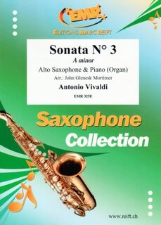 Sonata N° 3 in A minor (Alto Saxophone)