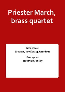 Priester March, brass quartet