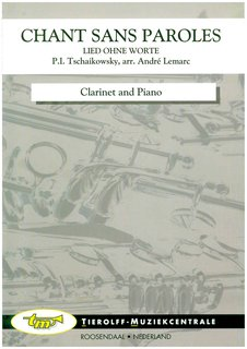 Chant Sans Paroles, clarinet and piano