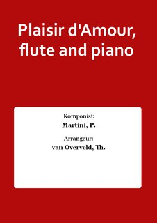 Plaisir dAmour, flute and piano