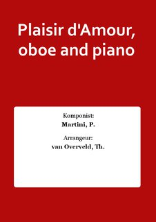 Plaisir dAmour, oboe and piano