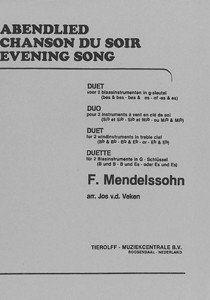 Evening Song / Abendlied, duo