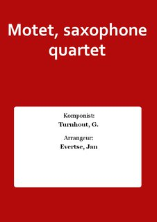 Motet, saxophone quartet