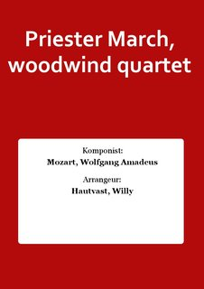 Priester March, woodwind quartet