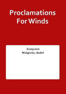 Proclamations For Winds
