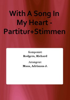 With A Song In My Heart - Partitur+Stimmen