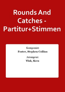 Rounds And Catches - Partitur+Stimmen