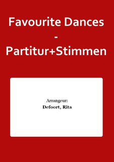 Favourite Dances - Partitur+Stimmen