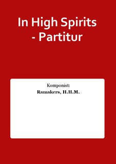 In High Spirits - Partitur