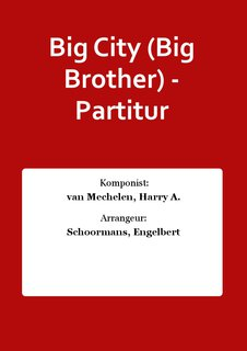 Big City (Big Brother) - Partitur