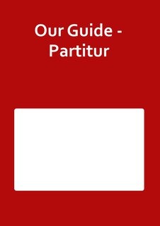 Our Guide - Partitur