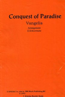Conquest Of Paradise - Partitur