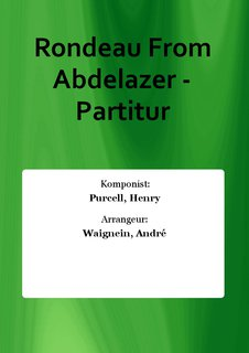 Rondeau From Abdelazer - Partitur