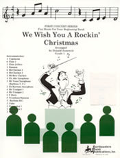 We Wish You A Rockin Christmas - Partitur
