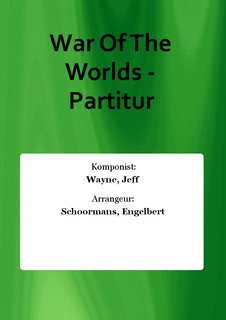 War Of The Worlds - Partitur