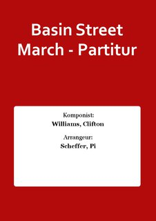 Basin Street March - Partitur