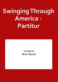 Swinging Through America - Partitur