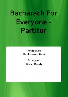 Bacharach For Everyone - Partitur