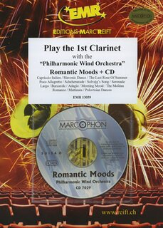 Play the 1st Clarinet - Romantic Moods + CD
