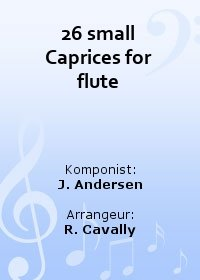 26 small Caprices for flute