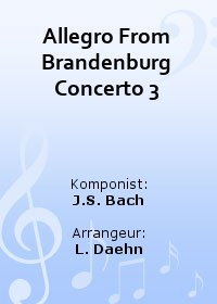 Allegro From Brandenburg Concerto 3