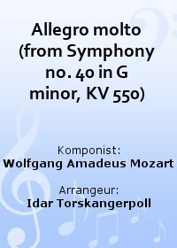 Allegro molto (from Symphony no. 40 in G minor, KV 550)