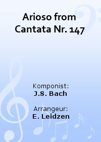 Arioso from Cantata Nr. 147