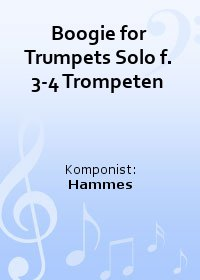 Boogie for Trumpets Solo f. 3-4 Trompeten