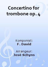 Concertino for trombone op. 4