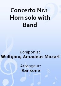 Concerto Nr.1  Horn solo with Band