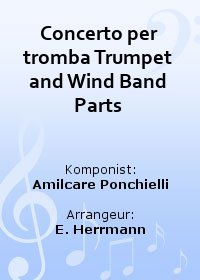 Concerto per tromba Trumpet and Wind Band Parts